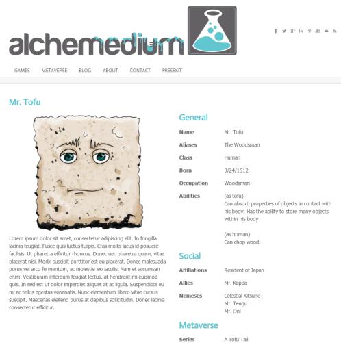 a tofu tail alchemedium metaverse wip