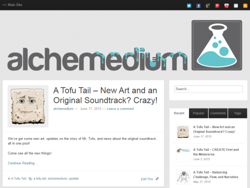 alchemedium blog page