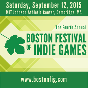 Boston Festival of Indie Games 2015 flyer