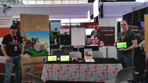 a tofu tail pax east indie showcase booth