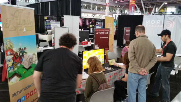 a tofu tail pax east indie showcase interaction